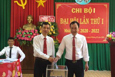 Đại hội các Chi bộ trực thuộc Đảng bộ trường THPT DTNT N'Trang Lơng nhiệm kỳ 2020-2022