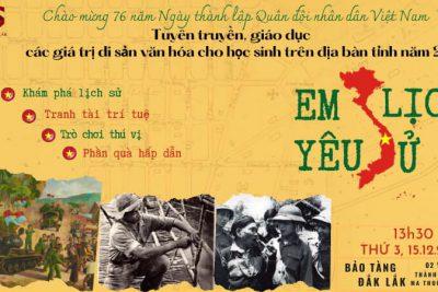 """""""Em yêu lịch sử"""" – trải nghiệm thú vị của học sinh N'Trang Lơng tại Bảo tàng tỉnh Đắk Lắk"""