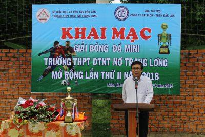 Giải bóng đá Mini Trường THPT DTNT Nơ Trang Lơng mở rộng lần thứ 2 – năm 2018