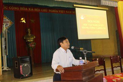 Hội nghị học tập, quán triệt và triển khai nghị quyết Trung ương VII, khóa XII.