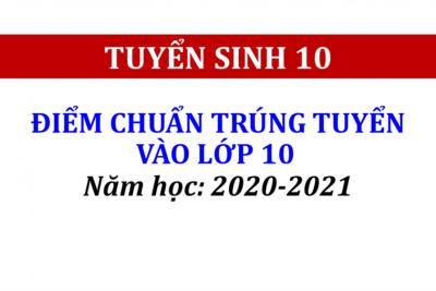 QUYẾT ĐỊNH ĐIỂM CHUẨN TRÚNG TUYỂN VÀO LỚP 10, NĂM HỌC 2020-2021